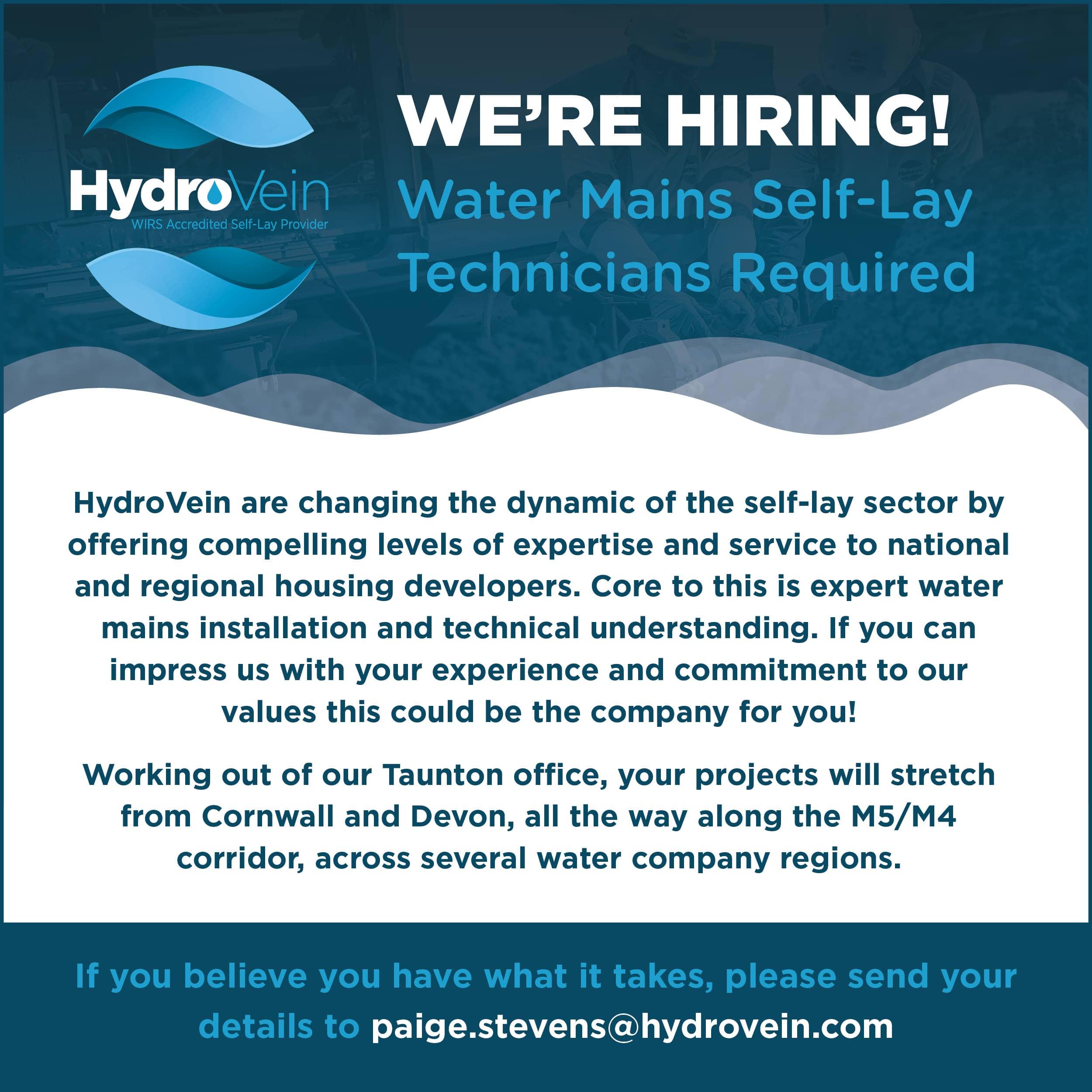 Hydrovein Facebook social Media Job Advert